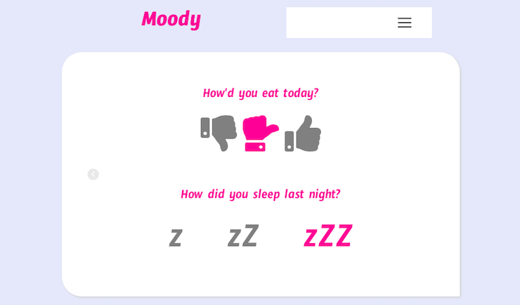 Moody.io Daily Questionaire